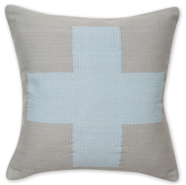 Decorative Pillows With Crosses : Jonathan Adler Cotton Cross Pillow - Transitional - Decorative Pillows - by The Modern Shop