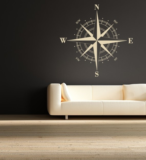 Compass Rose Vinyl Wall Decal by Empire City Studios modern-wall-decals