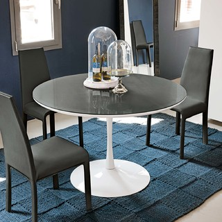 Modern Round Kitchen Or Dining Table Flute By Target Point Contemporary Dining Tables
