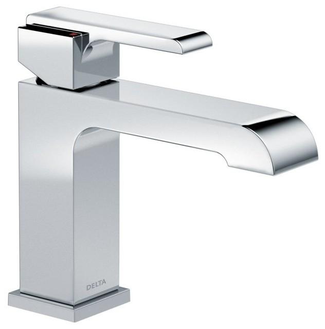Delta ara series single handle single hole lavatory faucet - Delta contemporary bathroom faucets ...