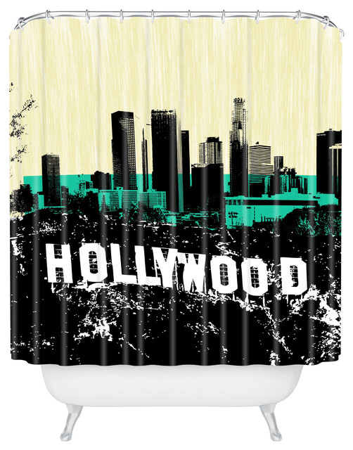 Amy Smith Only In Hollywood Shower Curtain