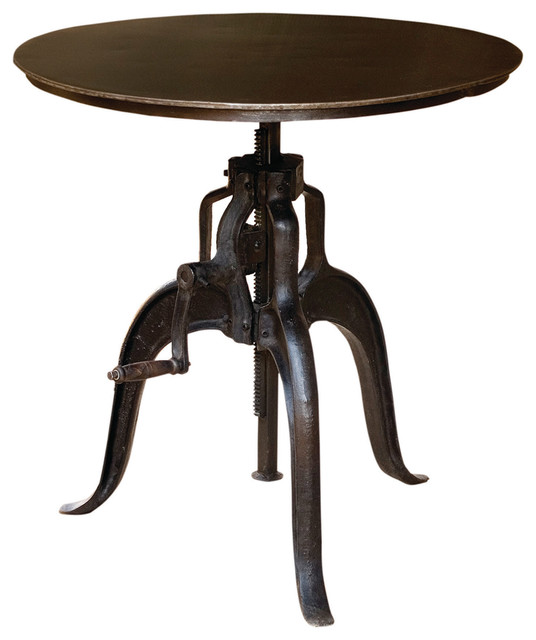 Four Hands Rockwell Adjustable Table 30 Black Industrial Side Tables And End Tables By