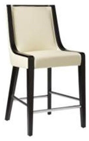 Candy Off White Leather Counter Height Stool Modern