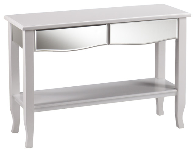 Upton Home Montmarth White Mirrored Console Sofa Table Contemporary Console Tables By