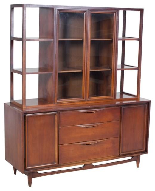 Mid Century Modern Walnut Hutch Midcentury China  : midcentury china cabinets and hutches from houzz.com size 520 x 640 jpeg 55kB