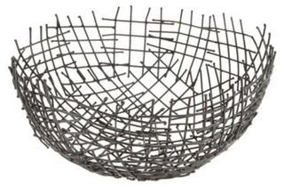 Betty Jackson Black Designer Black Wire Bowl