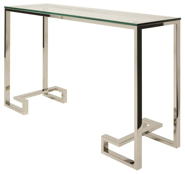 Modern console table with glass top modern console tables