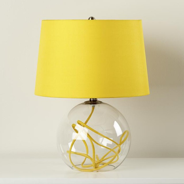 crystal ball table lamp yellow contemporary table lamps by the. Black Bedroom Furniture Sets. Home Design Ideas