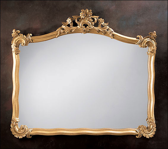 Mirror carved wood traditional wall mirrors new york for Decorative crafts mirrors