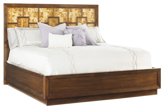 Lexington mirage harlow panel bed king complete bed for Harlowe bed