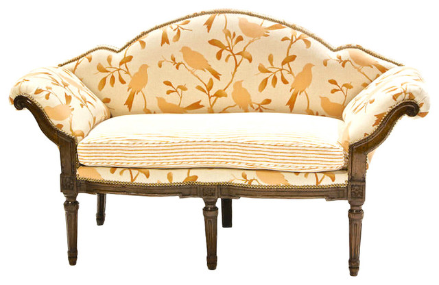 Louis xv walnut canap modern sofas miami by the for Louis xv canape sofa
