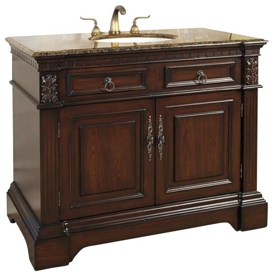 42 inch traditional single sink bathroom vanity traditional bathroom