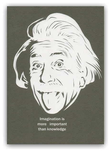 quote poster a3 albert einstein contemporain imprim et poster autres p rim tres par. Black Bedroom Furniture Sets. Home Design Ideas