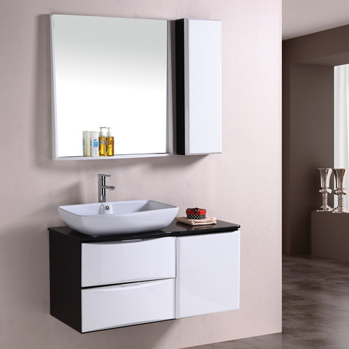 Corner Wash Basin With Cupboard : our wash basin cabinet is in black and white colur in modern design ...