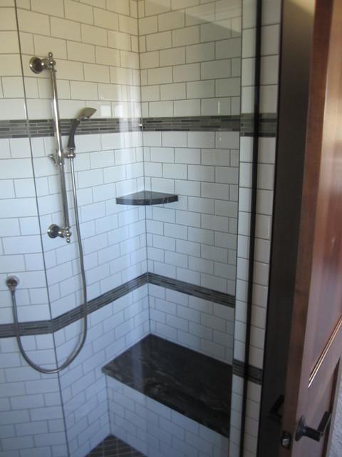 Titanium Granite Shower Bench Shelves