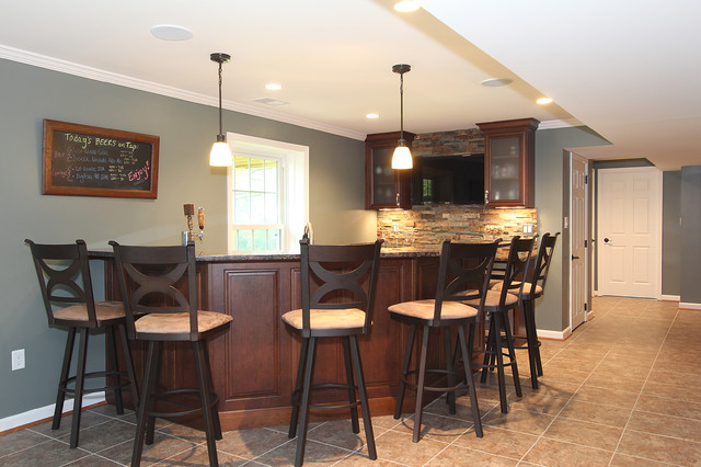 great falls va basement remodel traditional