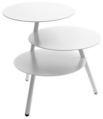 Table Basse Design Trio By Pulpo Couleur Blanc Modern