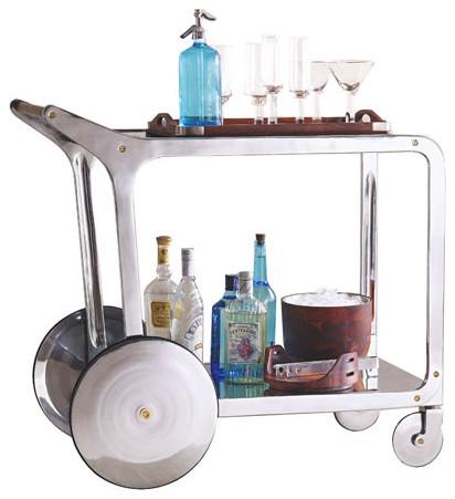 Circa Design Kitchen Bar Rolling Cart Modern Bar Carts