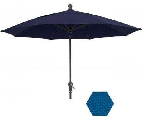 9 ft aluminum garden patio umbrella pacific blue