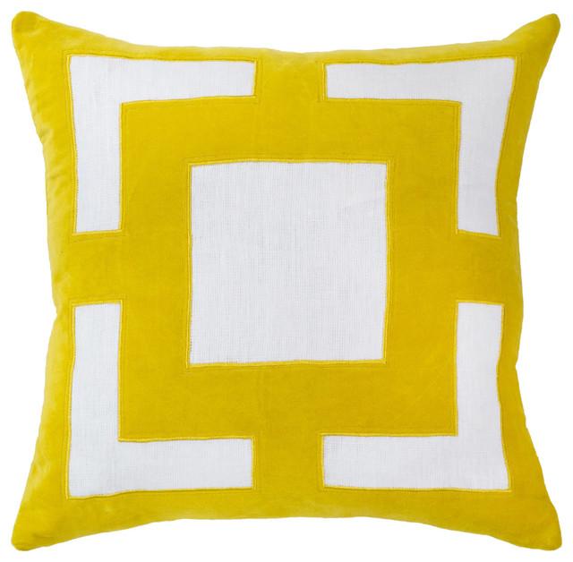 Bandhini Home Panel Yellow Lounge Throw Pillow - Modern - Decorative Pillows - by Zinc Door