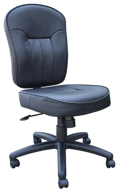 task chair in black leather contemporary office chairs by