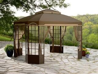 Garden Oasis Bay Window Gazebo Traditional Gazebos