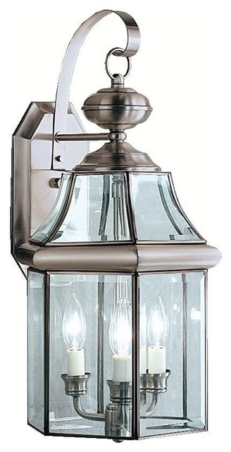 Kichler Embassy Row Outdoor Wall Mount Light Fixture in Antique Pewter - Traditional - Outdoor ...