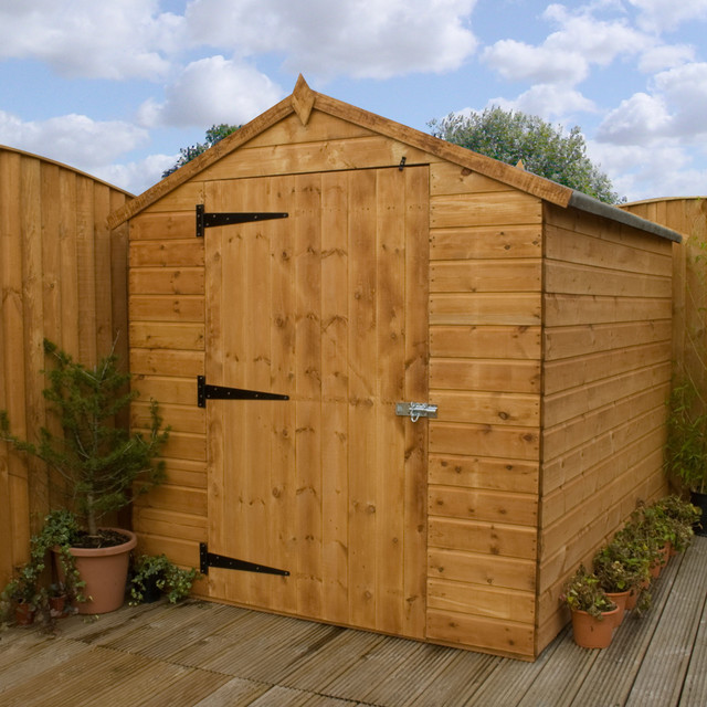 Wood shed doors for sale garden huts uk making garden for Storage huts for garden