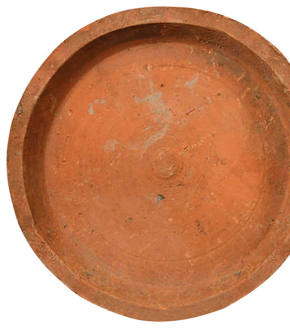Rustic terra cotta saucer 10 5 transitional indoor pots planters by bliss home design - Indoor plant pots with saucers ...