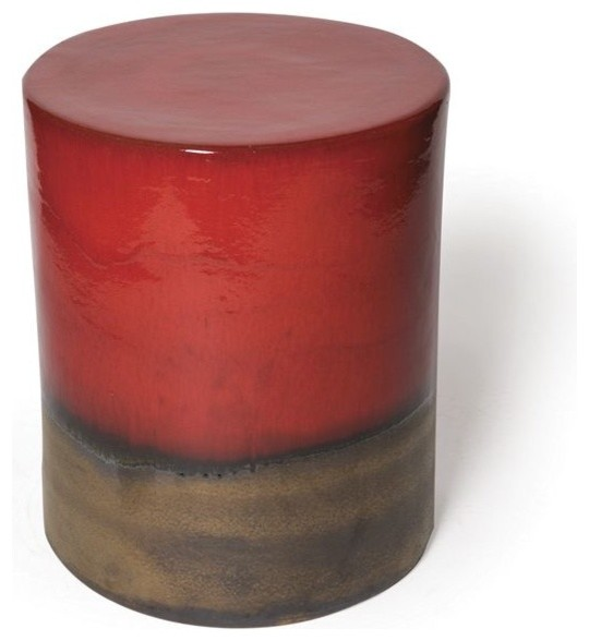 Seasonal Living Two Color Ceramic Garden Stool And Table