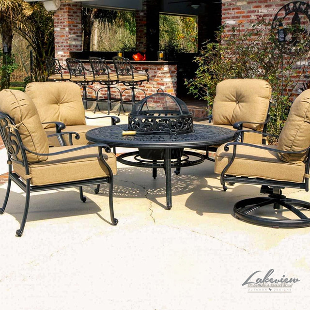 rosedown cast aluminum patio furniture contemporary outdoor lounge sets other metro by. Black Bedroom Furniture Sets. Home Design Ideas