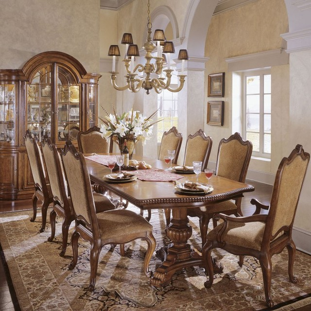 Villa Cortina 9 piece Double Pedestal Dining Set  : contemporary dining sets from houzz.com size 640 x 640 jpeg 139kB