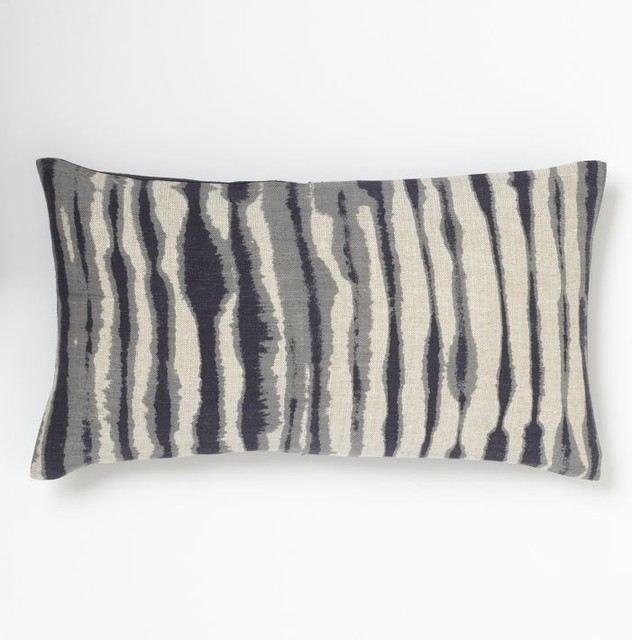 Blurry Stripe Pillow Cover - Eclectic - Decorative Pillows - by West Elm
