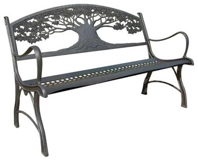 cast iron garden bench  tree farmhouse outdoor benches Farmhouse Table Plans Farmhouse Table with Bench