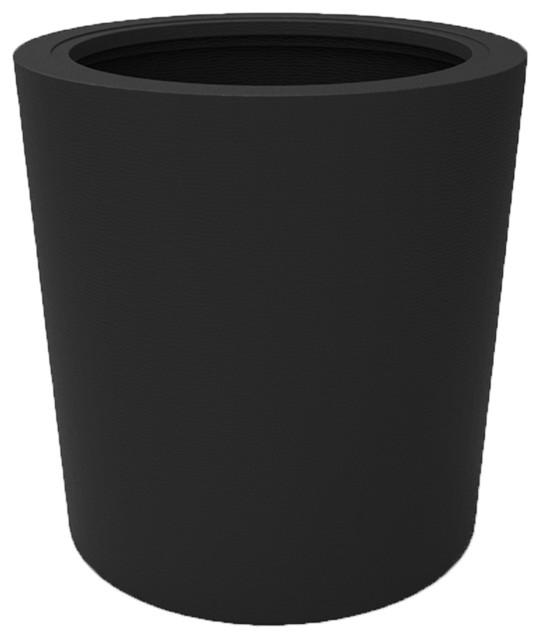 vienna planter dia30 quot xh30 75 quot texuterd black contemporary plant pots planters by decorpro