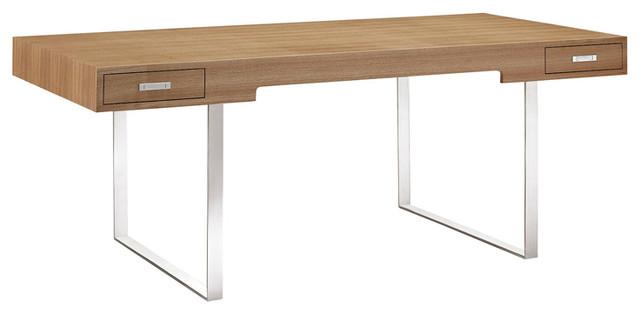 Contemporary Wood Desk Stratford wood desk - modern - desks and ...