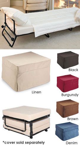 buy fold out ottoman bed from footstools and ottomans. Black Bedroom Furniture Sets. Home Design Ideas