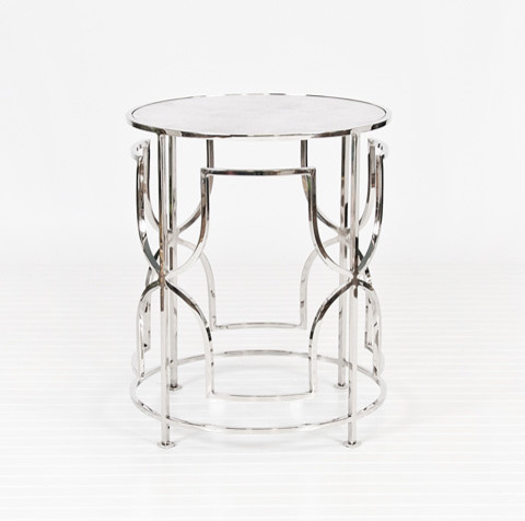 Worlds Away Lenora Nickel Table - Contemporary - Side Tables And End Tables - New York - By ...