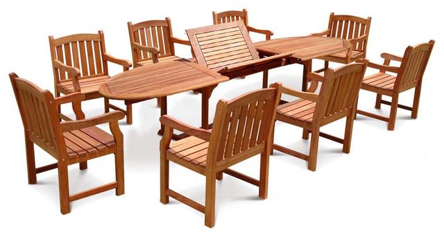 Contemporary Outdoor Dining Set 59