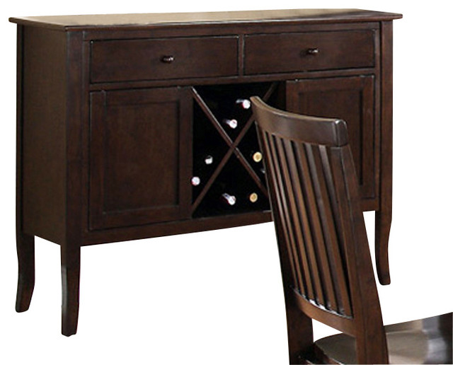 Steve Silver Candice Server in Dark Espresso - Contemporary - Buffets And Sideboards - by ...
