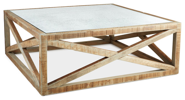 Manning 42 Square Coffee Table Natural Contemporary