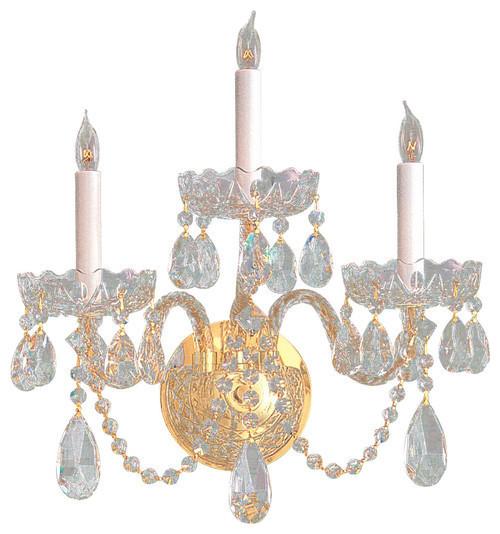 Traditional Crystal Wall Sconces : Crystorama Lighting Wall Lantern Traditional crystal - Traditional - Wall Sconces - by Rlalighting