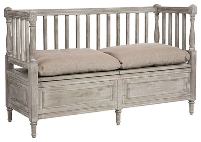 Aidan Gray Smokey Lake Udo Short Bench Ch164 Farmhouse Accent And Storage Benches