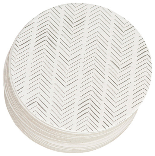 Herringbone Letterpress Paper Coasters - Contemporary - Coasters - by Ruff House Art
