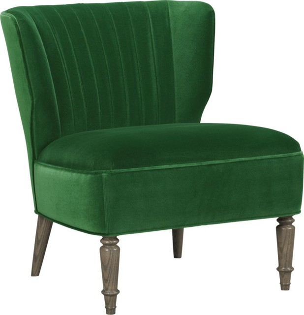 Arietta chair emerald como contemporary armchairs and Crate and barrel living room chairs