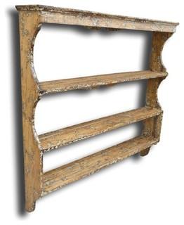 ... Rack White/Cream Oak Wood - Traditional - Display And Wall Shelves