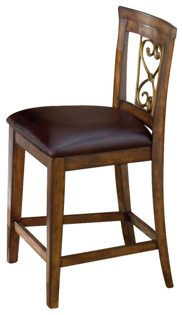 Hillsdale Villagio Scroll Back Non Swivel Counter Stool