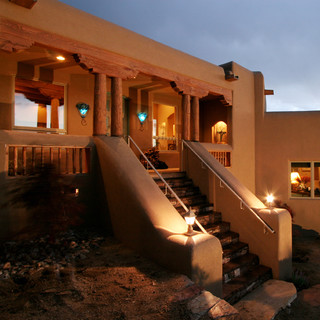 Southwest style eclectic exterior albuquerque by for Paint and wine albuquerque