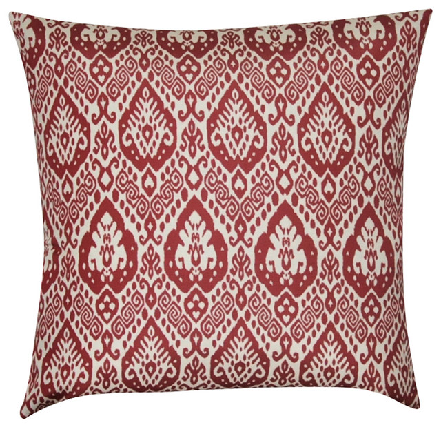 Dark Red Decorative Pillow : Loom and Mill 22