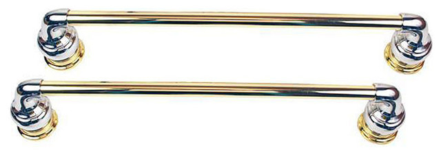 Moen Decorator Chrome With Polished Brass 18-inch Towel